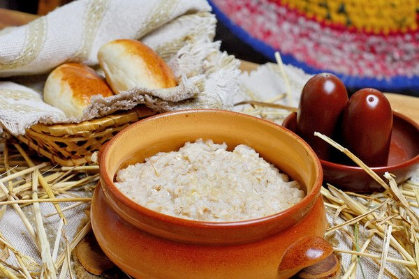 How to cook rice porridge with Apple