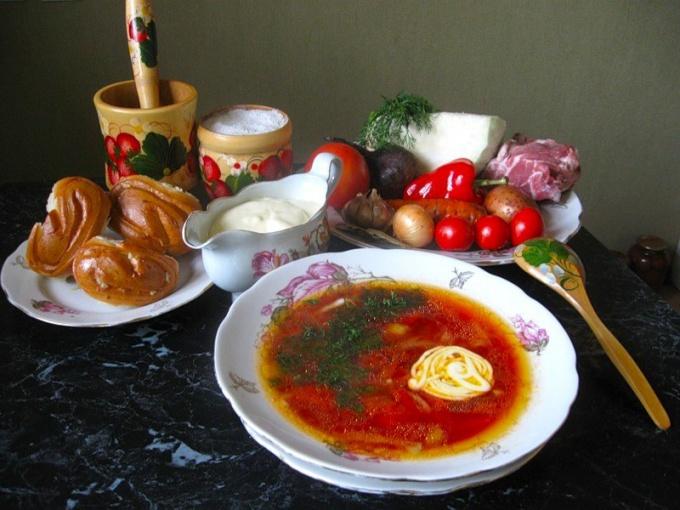 Как приготовить борщ украинский