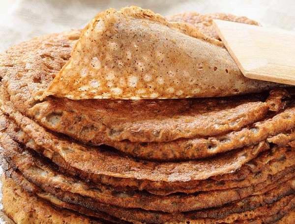 Как приготовить блины гречневые с грибной начинкой
