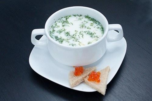 сливочный суп с копченым угрем рецепт