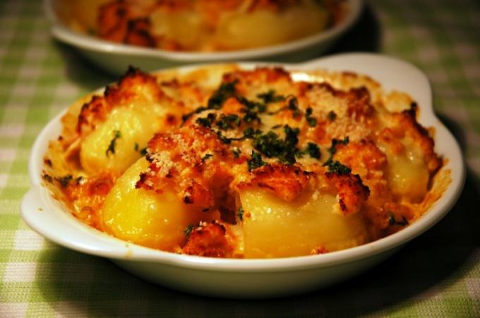 Как приготовить картофель гратен с сыром