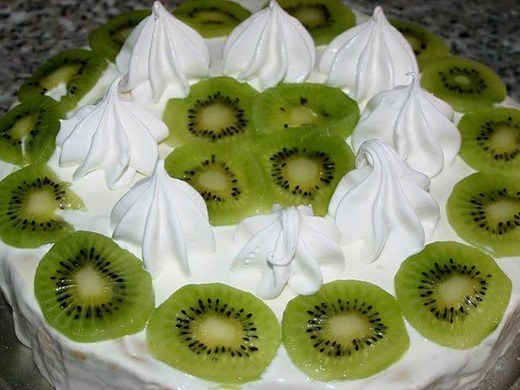 Как приготовить пирог из творога с киви с бананами