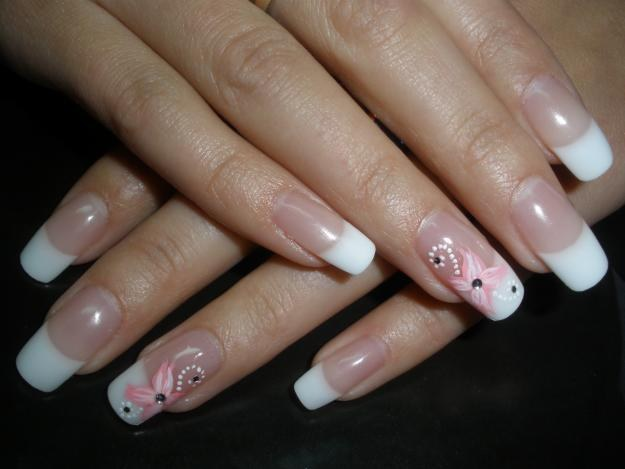What is the material for nail extensions?
