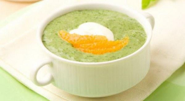 Как приготовить апельсиновый суп со шпинатом