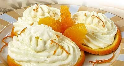 Как приготовить апельсиновый творог со сливками