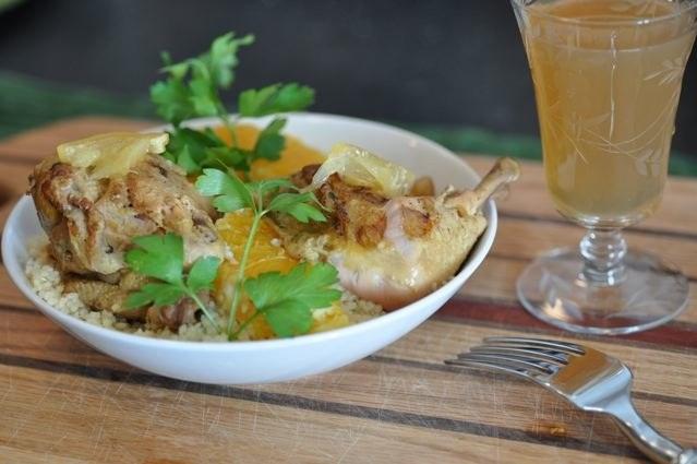 Как приготовить курицу с апельсинами и розмарином