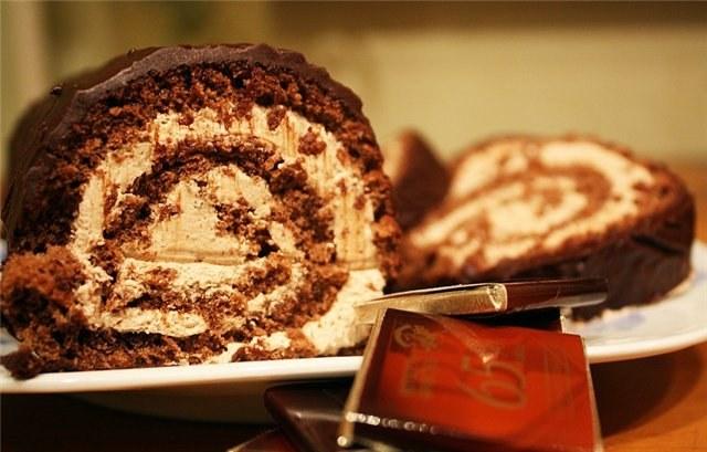 Как сделать рулет шоколадно-ореховый