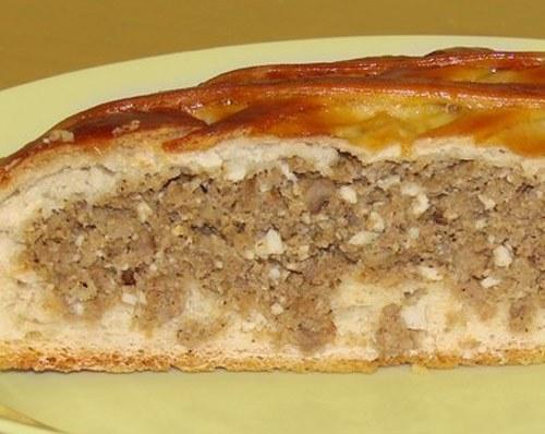 Как приготовить пирог с мясом на дрожжевом тесте