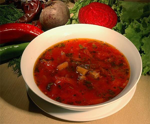 Как приготовить борщ киевский с яблоками и фасолью