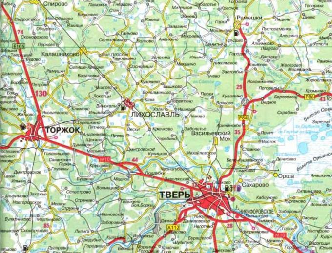 Как читать карты дорог городов России