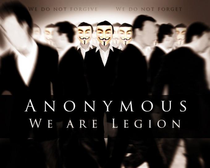 Чем занимается движение Anonymous