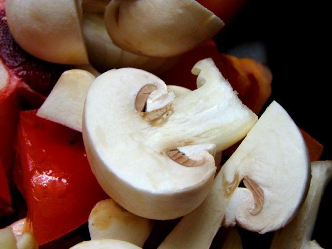 Как приготовить грибы в рисовом кольце