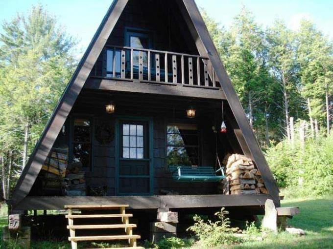 Как построить дачный домик-шалаш