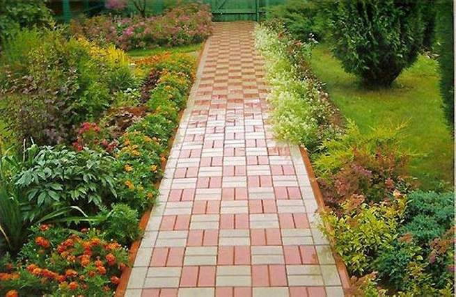 Как вымостить дорожку в саду