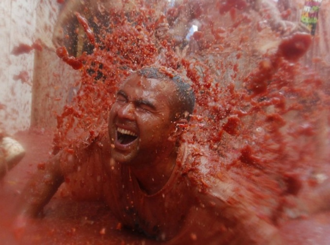 How can I participate in the tomato battle of La Tomatina