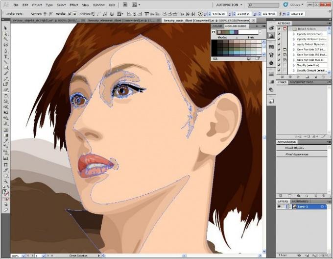 Как вырезать в иллюстраторе