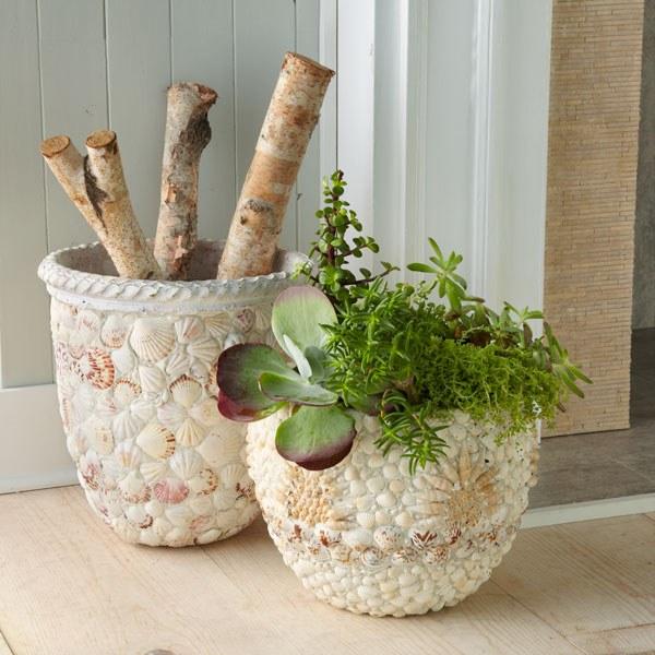 Как украсить керамический горшок