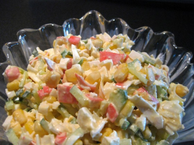 How to cook crab salad