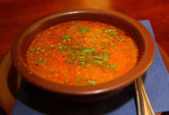 Soup kharcho chicken