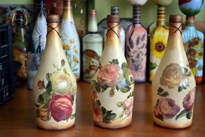 Простая бутылка может стать настоящим произведением искусства