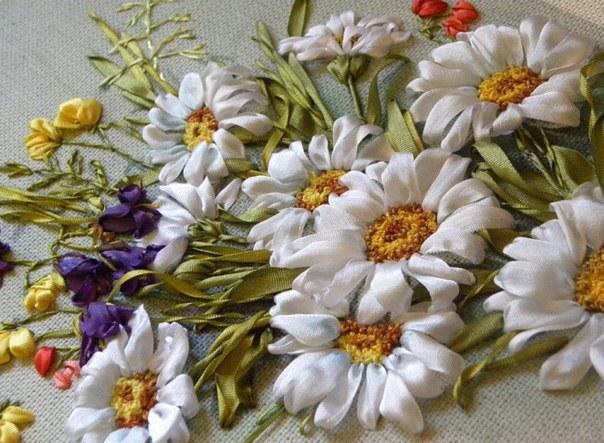 Уроки вышивки лентами для новичков