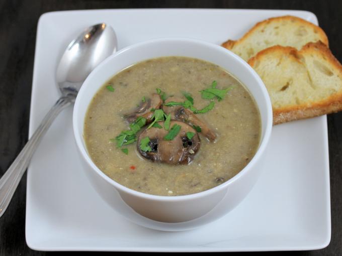 Суп пюре грибной в мультиварке