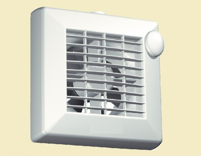 The exhaust fan in the kitchen