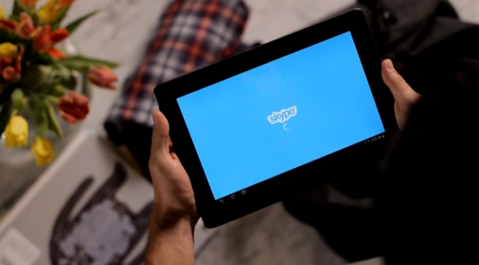 How to set Skype on the tablet