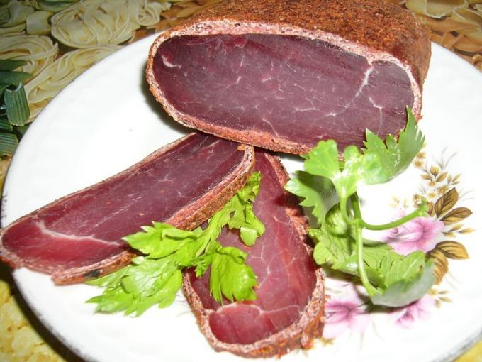 Бастурма - вяленое мясо