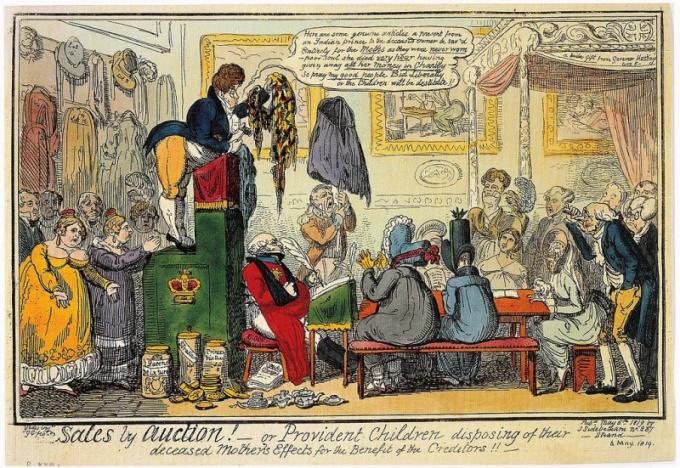 Аукцион. Иллюстрация 1819 года.