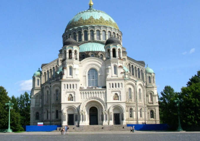 The famous Naval Cathedral of Kronstadt