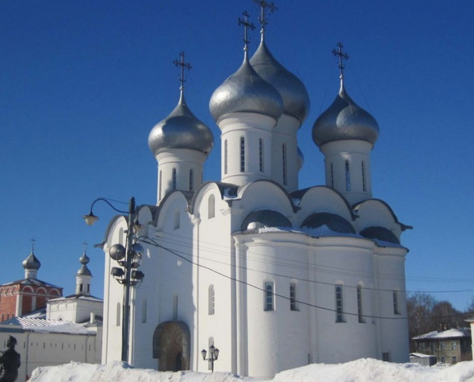 Vologda Sofia is beautiful even in the cold