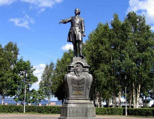 In Petrozavodsk, the revered founder of the city