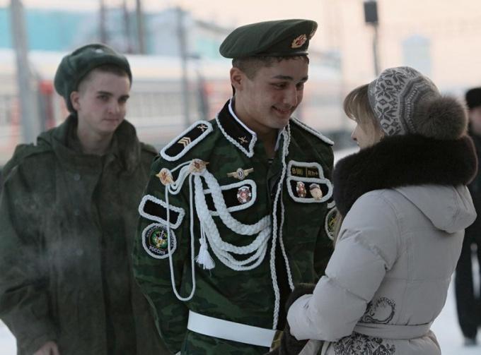 Как встречают из армии