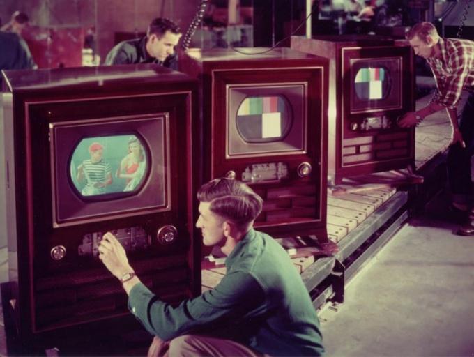 Цветные телевизоры 1950-х годов