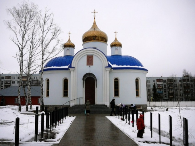 """Kubinka. Church of icon Bozhiej of Mother """"the fertile Sky"""" at the 45th airborne regiment"""