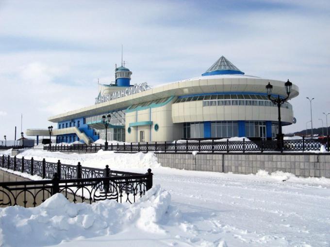 Речной порт Ханты-Мансийска.
