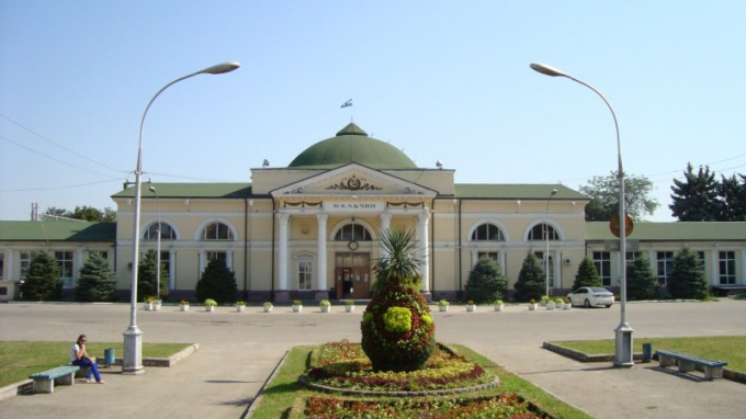 The railway station of Nalchik