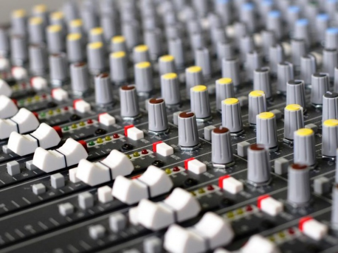 The mixing console