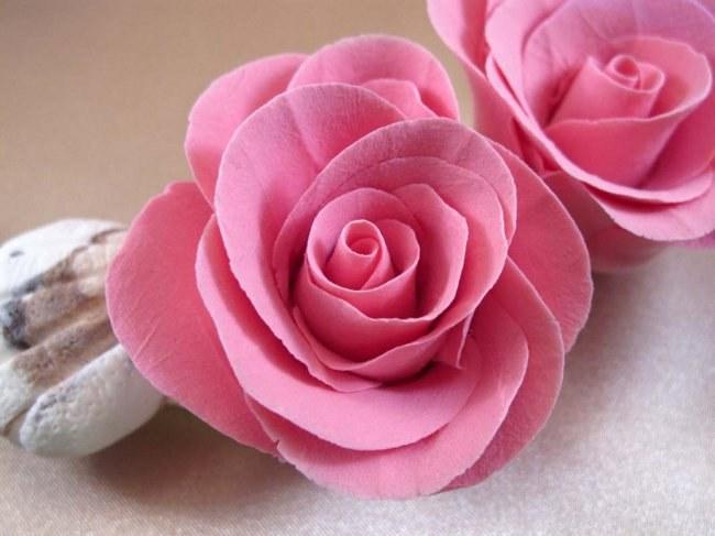 Как из глины сделать розу