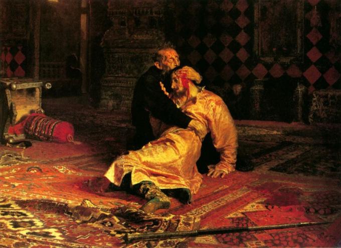 И.Е. Репин. «Иван Грозный и сын его Иван 16 ноября 1581 года».