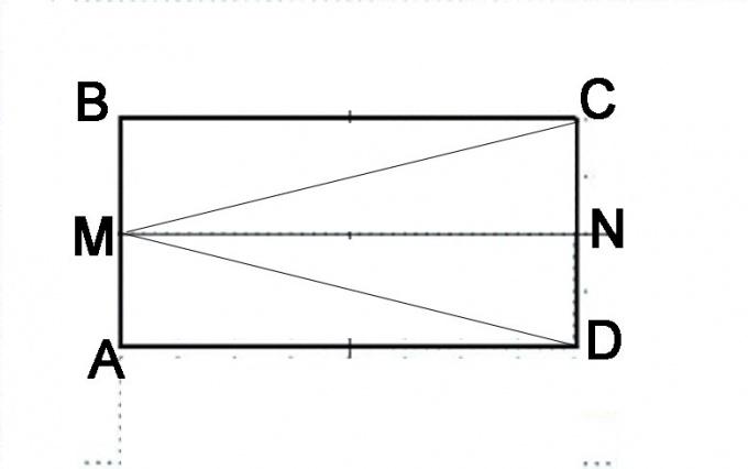 Начертите параллелограмм и сделайте дополнительные построения