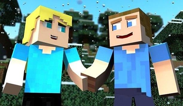 Вдвоем в Minecraft веселее