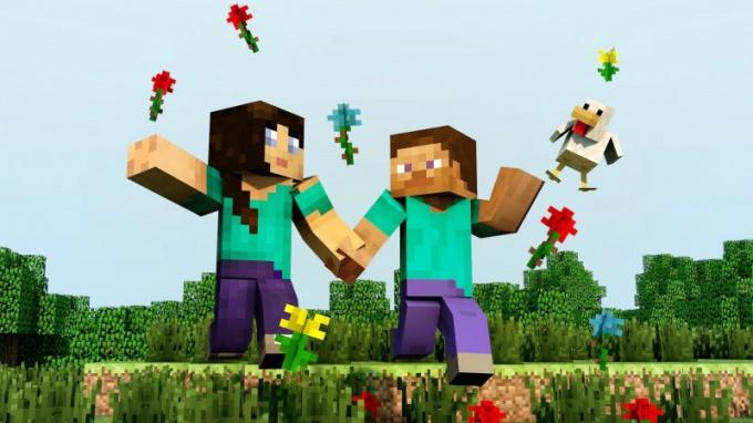 Сыграть в Minecraft можно даже на пару с любимой девушкой