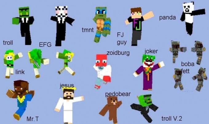 Внешность персонажа в Minecraft может быть весьма оригинальной
