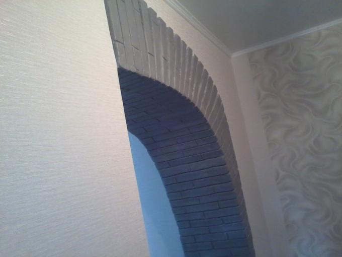 Как сделать арку гипсом