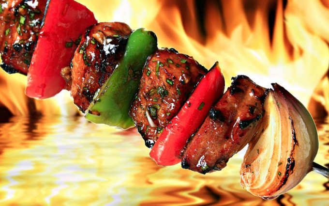 How delicious to soak skewers