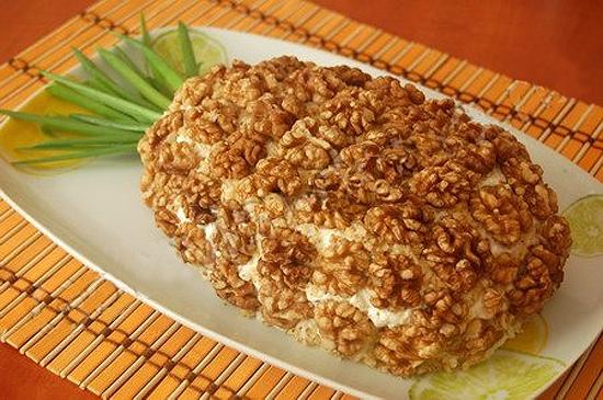 Рецепт салата ананасом