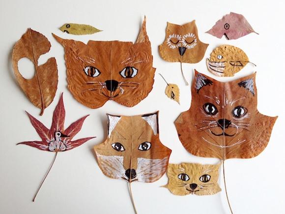 Как из листьев сделать животных