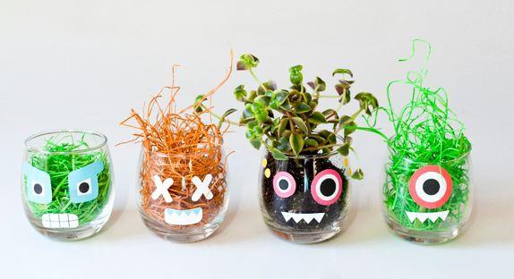 Как сделать растения в форме монстриков для вечеринки